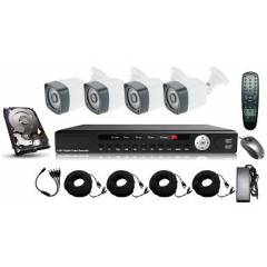 Kit supraveghere exterior 5in 1 cu 4 camere FULL HD 2.1Mpx 1080p AHD Low Illumination, HD-CVI, HD-TVI