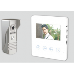 Kit videointerfon 1 familie cu monitor intern de 4.3
