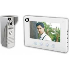 Kit videointerfon 1 familie cu monitor intern de 7